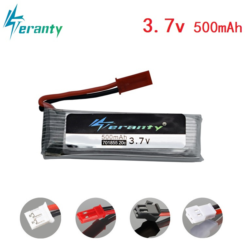 3.7v 500mah Lipo Battery for Udi U815A U818A U819A L6052 L6036 V212 V222 H07 for H37 V929 V959 V930 V966 V977 X20 battery <font><b>701855</b></font> image