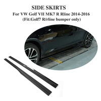 Carbon Fibre Side Door Bottom Line Lip Skirts for Volkswagen VW GOLF 7 VII MK7 R R LINE Hatchback 2014 2016 2PCS/Set
