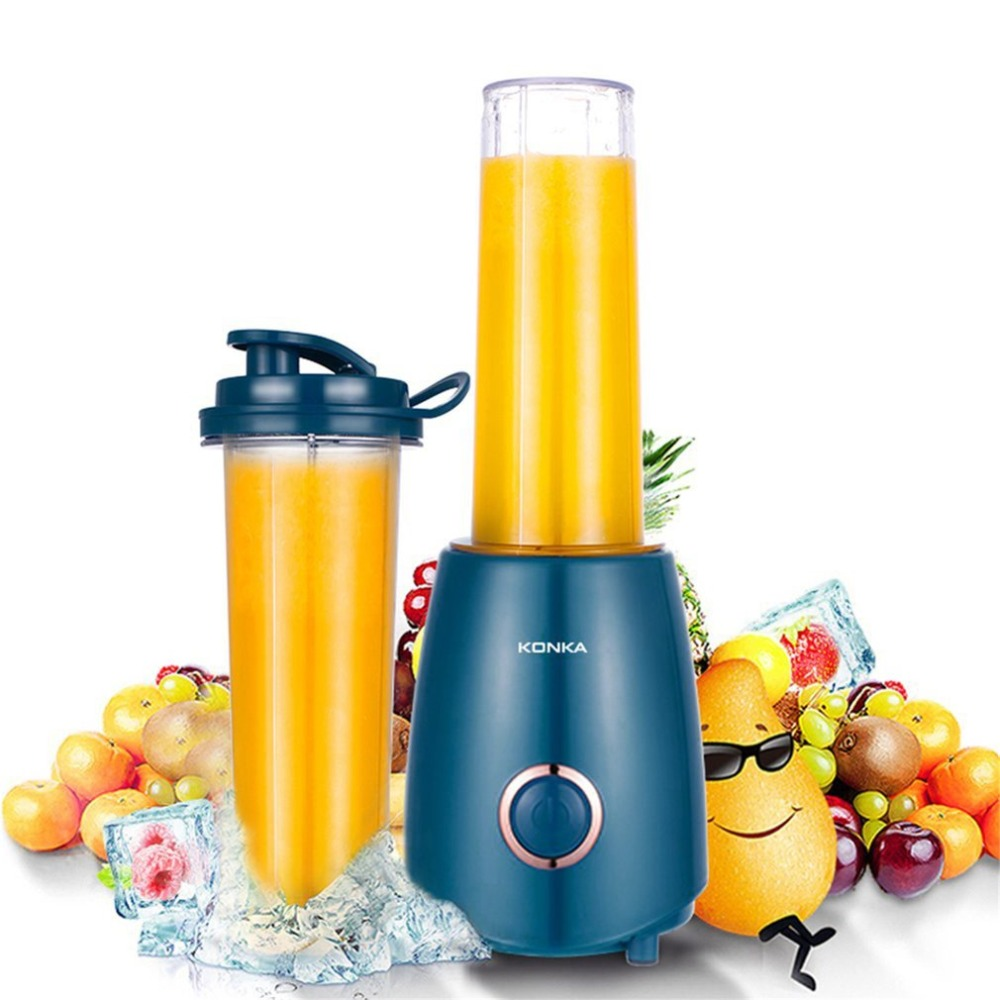 Portable Mini Electric Juicer Small-Scale Domestic Fruit Juice Processor Extractor Blender Smoothie Maker KJ-JF302 konka kj jf302 500ml portable electric juicer multi function household vegetable juice extractor portable blender juicer machine