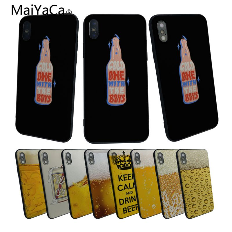 MaiYaCa Summer Beer luxury cell phone cases For Apple iphone 5 5s XR SE For iphone 6 6s 7 7plus 8 8plus phome case image