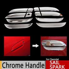 Para Chevrolet Sail 2010-2015 Vela Clássico Maçanetas de Cromo Cobre Chevy Cromo Styling Acessórios Do Carro Adesivos de Carro Carro Styling