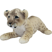 high quality simulation prone lion large 60cm plush toy soft throw pillow Christmas gift b0090