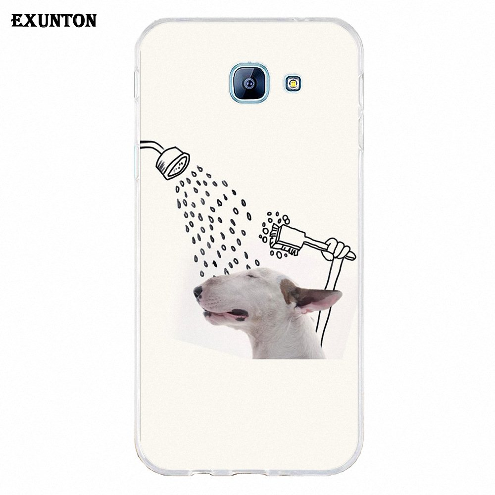 Exunton Jimmy Choo Bull Terrier Soft TPU Hot Selling For Galaxy Alpha Core  Prime Note 2 3 4 5 S3 S4 S5 S6 S7 S8 mini edge Plus-in Half-wrapped Case  from ... 0d7d2f213978