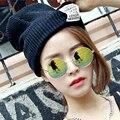 Versión coreana Skullies Capó Sombreros de Invierno Para Las Mujeres de la Gorrita Tejida Marca Baggy Gorros de Punto Sombrero Del Invierno Casquillos Calientes de Las Mujeres de Punto sombrero