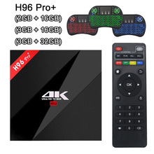 H96 PRO + Plus Smart TV Box Amlogic S912 3GB 32GB Android 7.1 OS Octa Core 2.4G/5.8GHz Wifi Bluetooth 4K Set Top Box