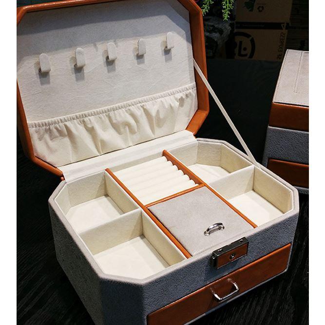 Livraison gratuite Au Détail de HAUTE QUALITÉ Étui de Transport pour Bijoux PU et De Mariage De Velours Boîte De Rangement Bijoux Accessoires boîte Biirthday
