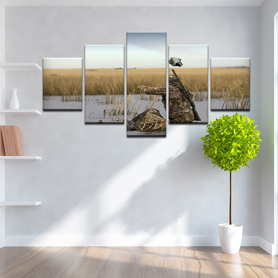 5 Panel Canvas Paintings Wall Art Home Decor Framework