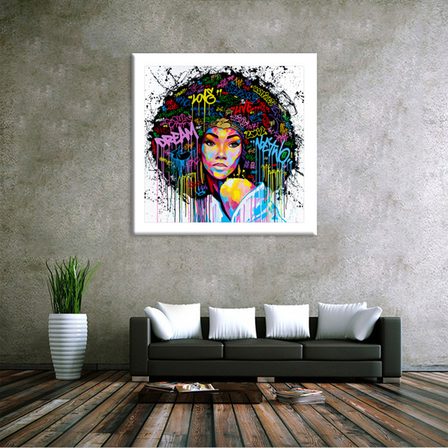 Abstract Modern African Women Painting Home Art Wall Figure Pictures For Living Room Modern Decoration Picture Artwork 993714