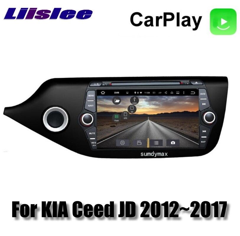 For KIA Ceed Cee\'d JD 2012~2017 Car Multimedia TV DVD GPS Radio Carplay Original Style Navigation Liislee Advanced Navi 5