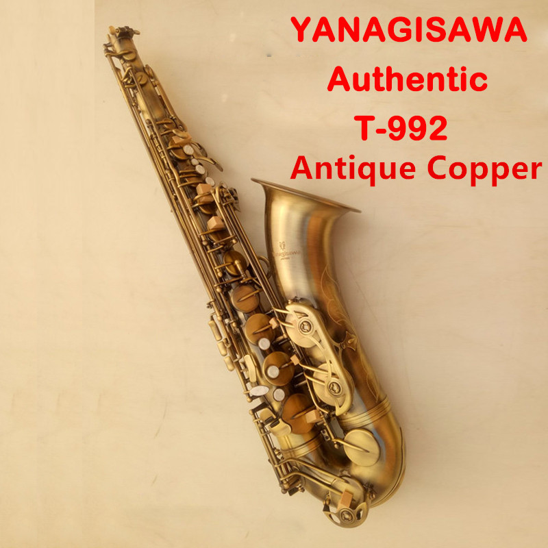 Japan YANAGISAWA T-992 Musical Instrument Tenor Saxophone Brass Antique Copper Surface Bb Tone Sax With Case Mouthpiece 2018 japan yanagisawa new tenor saxophone t 992 b flat tenor saxophone gold key yanagisawa sax with accessories professionally