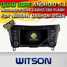 WITSON Android 5.1 Quad Core CAR DVD palyer for NISSAN QASHQAI X-TRAIL ROGUE 2014 GPS+1024X600 HD+DVR/WIFI/3G+DSP+RDS+16GB flash
