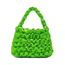 Luxury Women Bags Designer Hand Woven Silk Rope Knot Bag Hollow Evening Clutch Female Travel Holiday Handbag