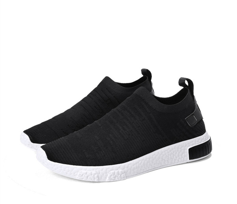 HTB1fb2XznlYBeNjSszcq6zwhFXaa Thin Shoes For Summer White Shoes Men Sneakers Teen Shoes Without Lace Trend 2019 New Feel Socks Shoes tenis masculino chaussure