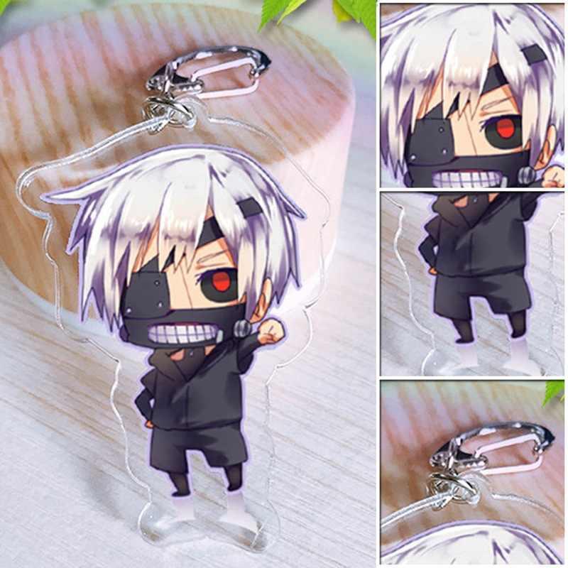 Inuyasha Tokyo Ghoul brelok śliczne dwustronne Saitama klucz łańcuszek wisiorek akrylowe Anime akcesoria na klucze z motywem kreskówkowym pierścień