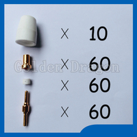 Free Shipping PT31 LG40 Plasma Cutting Cutter Torch Consumables Extended Nozzle TIPs Fit CUT40 CUT 50D