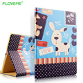 FLOVEME Color Print Flip Leather Cases For iPad mini 1 2 3 4 iPad air 1 2 Stylish Ultra Thin Kickstand Shockproof Bumper Cover