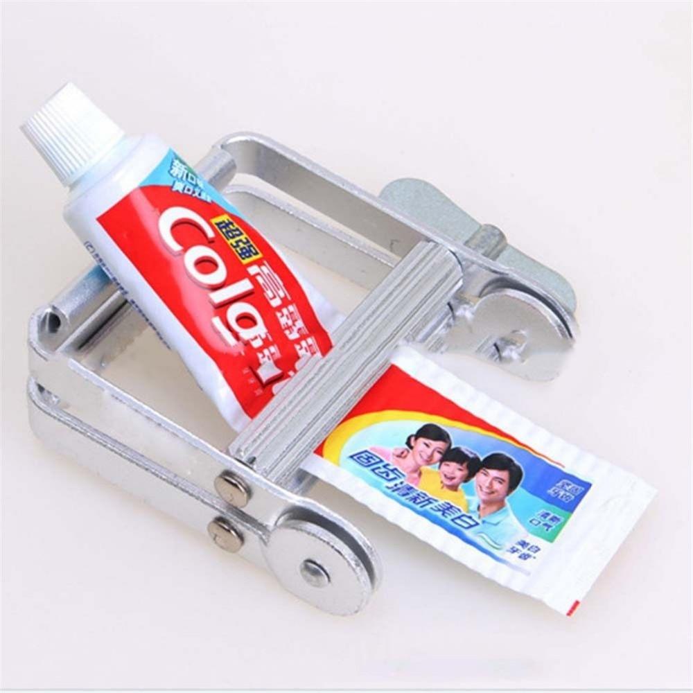 1 unid Multifunción portátil de Metal Dispensador de Pasta de dientes Exprimidor