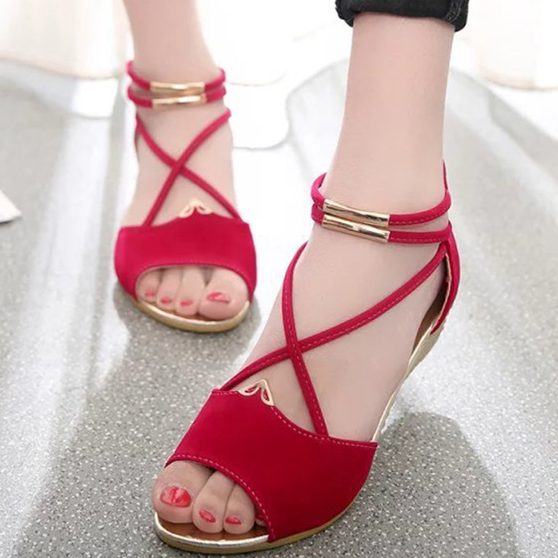 Women Sandals 2018 New Women Wedge Sandals Summer Shoes Women Gladiator Women Flat Rome Style Zipper Feminina Soft Sandals gladiator women s sandals 2018 summer new casual shoes women s shoes european roman style zipper bag with flat women s sandals