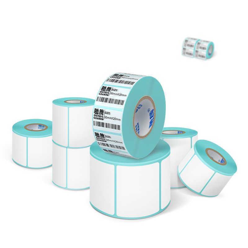 ป้ายกระดาษความร้อนกาวร้อนป้ายกระดาษสติกเกอร์ซูเปอร์มาร์เก็ตราคาป้ายว่างเปล่าพิมพ์โดยตรงพิมพ์กันน้ำ