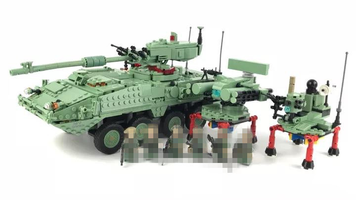 Hot Sale Stryker M1128 MGS Compatible Military Building Block Bricks Figures Set Brand New Educational Toys for Boys