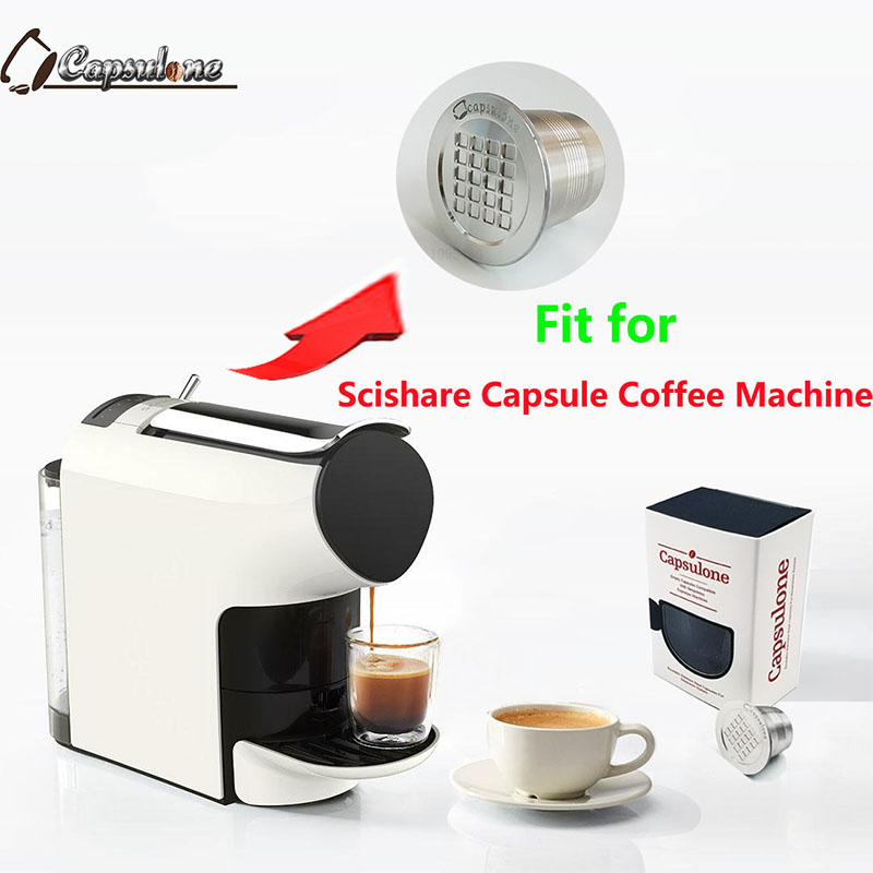 Capsulone STAINLESS STEEL Metal Capsule Compatible For Scishare Machine  Refillable Reusable Coffee Capsule/gift