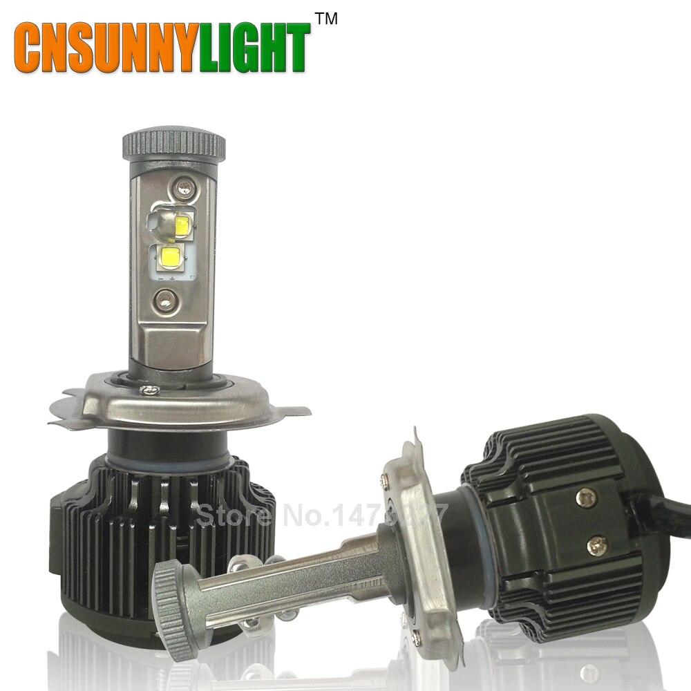 Prix pour CNSUNNYLIGHT H4 Salut/Lo H7 H11 9005 9006 Led De Voiture Phares 8000lm 3000 K 4300 K 6000 K Haute luminosité Auto Lumières Conversion Kit