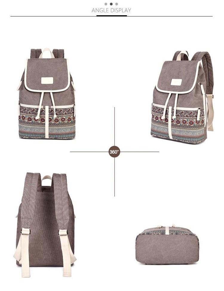 HTB1fb3TcvNNTKJjSspkq6yeWFXas Canvasartisan Top Quality Canvas Women Backpack Casual College Bookbag Female Retro Stylish Daily Travel Laptop Backpacks Bag