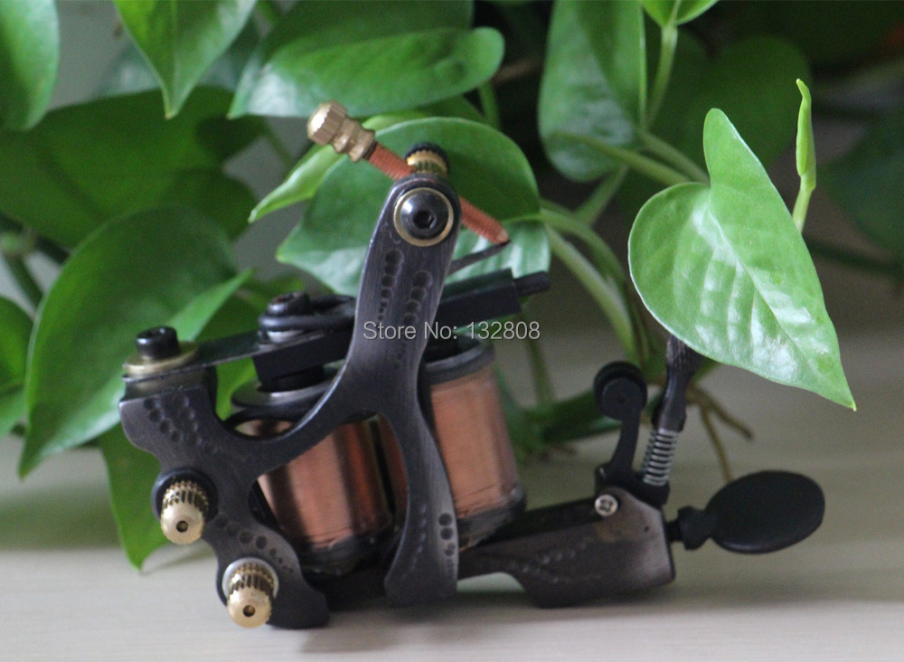 Professional Handmade Tattoo Machine 10-Wrap Coils  Iron Cast Frame Custom  Tattoo Gun For Liner Shader Free Shipping TM-832 new arrival red coil tattoo machine professional 10 wrap coils tattoo frame cheap tattoo machine top steel tattoo gun tm 7320