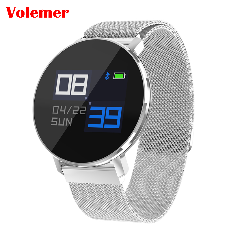 Volemer T5 Smart Watch Adult Metal Round watch Sport bracelet Passometer Fitness Heart Rate Tracker For