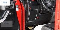 interior For Jeep Wrangler 2011 2012 2013 2014 2015 Stainless Steel Dashboard Side Speaker Cover Trim Molding Garnish 2 Pcs