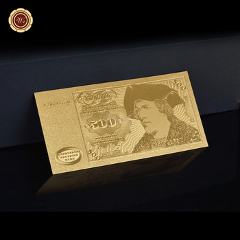 WR Germany Gold Foil 500 Deutsche Fake Money Golden Banknote Collectible Business Gift 24k Gold Plated Banknotes image