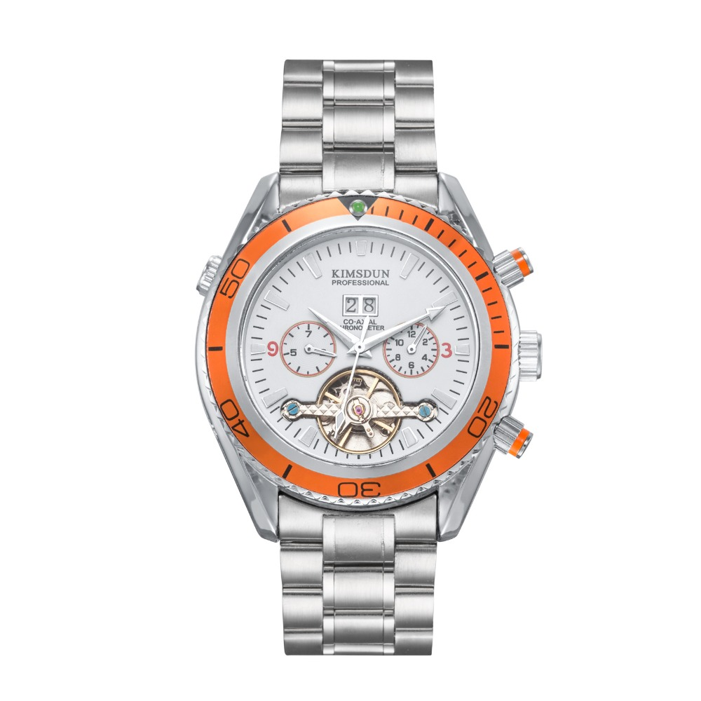 2019 KIMSDUNRelogio Masculino hommes montres Top marque de luxe affaires Quartz horloge hommes grand cadran mode étanche plein acier