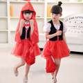 Halloween Cosplay Children 's Clothing Children' s Masquerade Show Girls Fairy Tale Little Red Riding Hood Princess Dresses