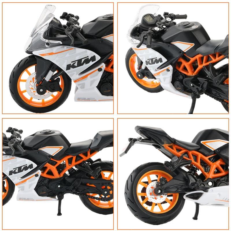 Maisto Alloy 1 18 Motorcycle Model Toy Simulation KTM RC 390 Motorbike Vehicle Sports Racing Car