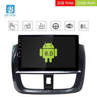 Besina 10.1 inch Android 8.0 Car multimedia Player For TOYOTA VIOS YARIS 2016 2017 WIFI GPS Navigation Audio Radio Stereo 2G+32G