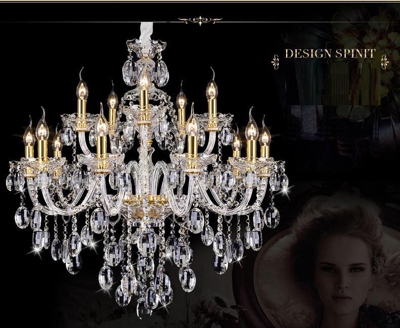 Svetlobni lestenec Moderni kristal Veliki lestenci Luksuzni Moderni - Notranja razsvetljava - Fotografija 3
