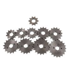 Dirt bike motorcycle scooter 428-20mm-10T/19T chain front sprocket gear hole Dia 20mm From 10 tooth to 19tooth(China)