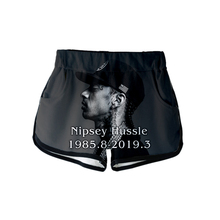 2019 3D Rep nipsey hussle Print Women summer Casual sexy shorts New Ladies Hot sale Shorts Plus Size XXL