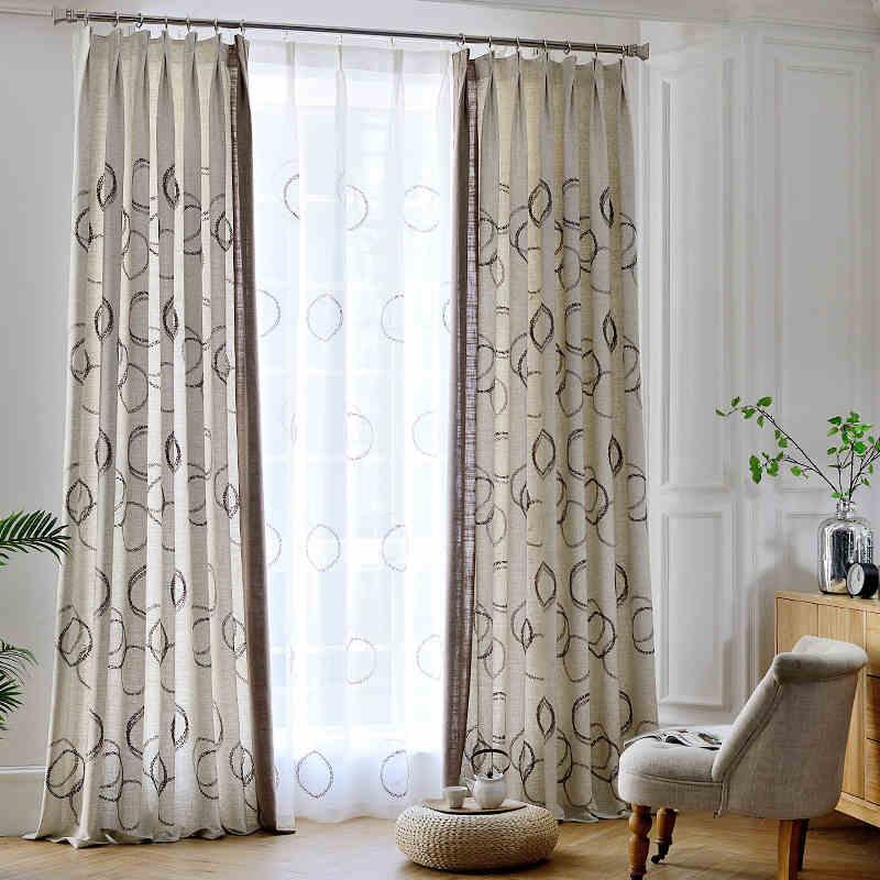 Linen Curtains For Living Room Cotton Sheer Bedroom Cheap Curtains Blackout Curtain And Tulle Custom Made