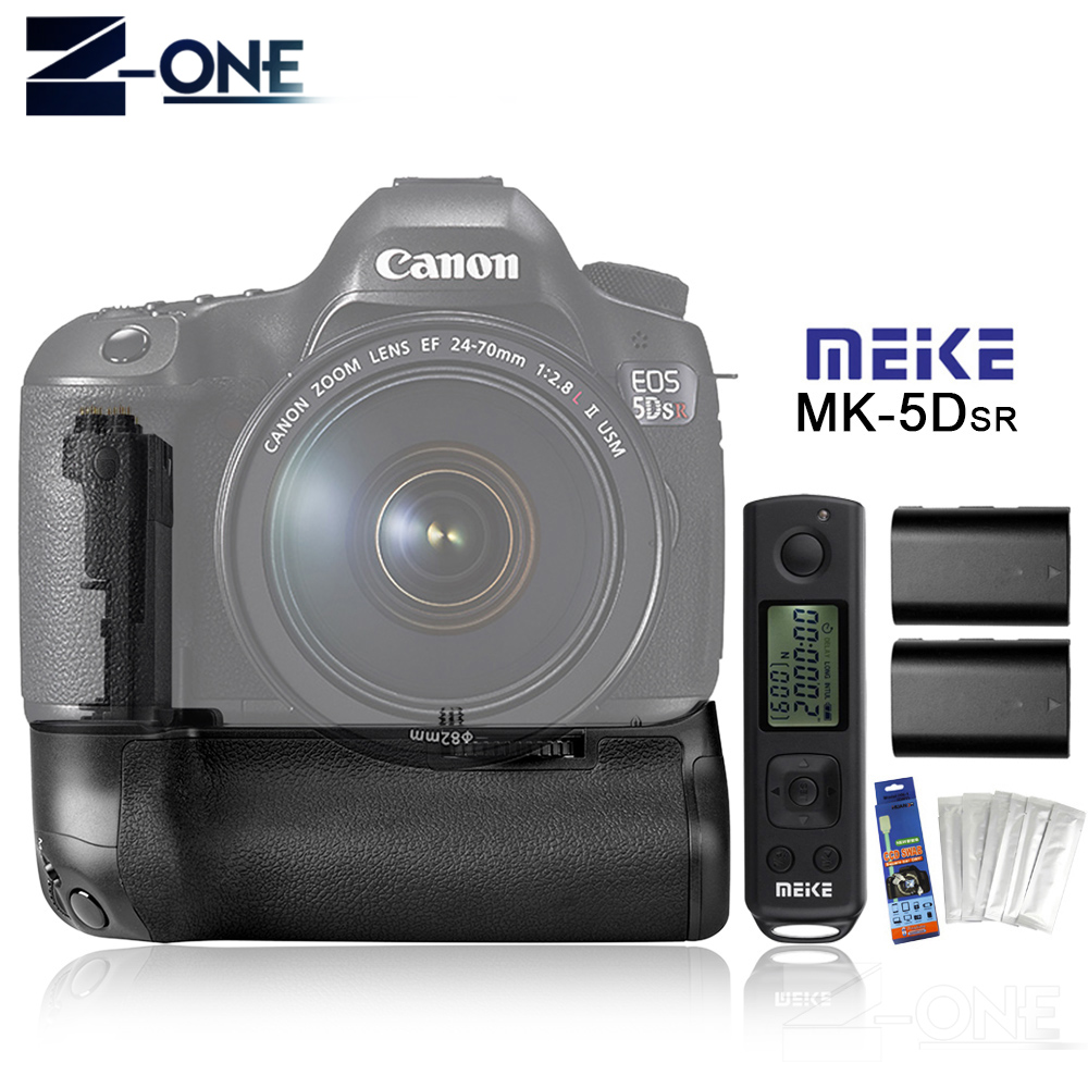 MEIKE MK-5DS R 2.4G Battery Grip Holder + Wireless Remote Control+2*LP-E6 Battery For Canon 5DS R 5D Mark III/5Ds/5DsR стоимость