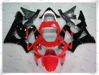 Мотоцикл Горячий красный + черный обтекателя Средства ухода за кожей капота для H o n D CBR900RR CBR 900RR CBR929RR CBR 929RR 2000 2001 + 3 подарок