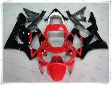 Мотоцикл Горячий Красный + Черный Обтекателя Кузова Капота Для H O N D CBR900RR CBR 900RR CBR929RR CBR 929RR 2000-2001 + 3 Подарков