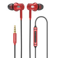 MF-OK306 Original 3.5MM Metal in-Ear Wired Earphones HiFi Stereo Bass Earphone Earbuds with Microphone for Phone Computer 3 5mm heavy bass stereo earphone for lenovo k3 note earbuds headsets with microphone metal in ear earphones