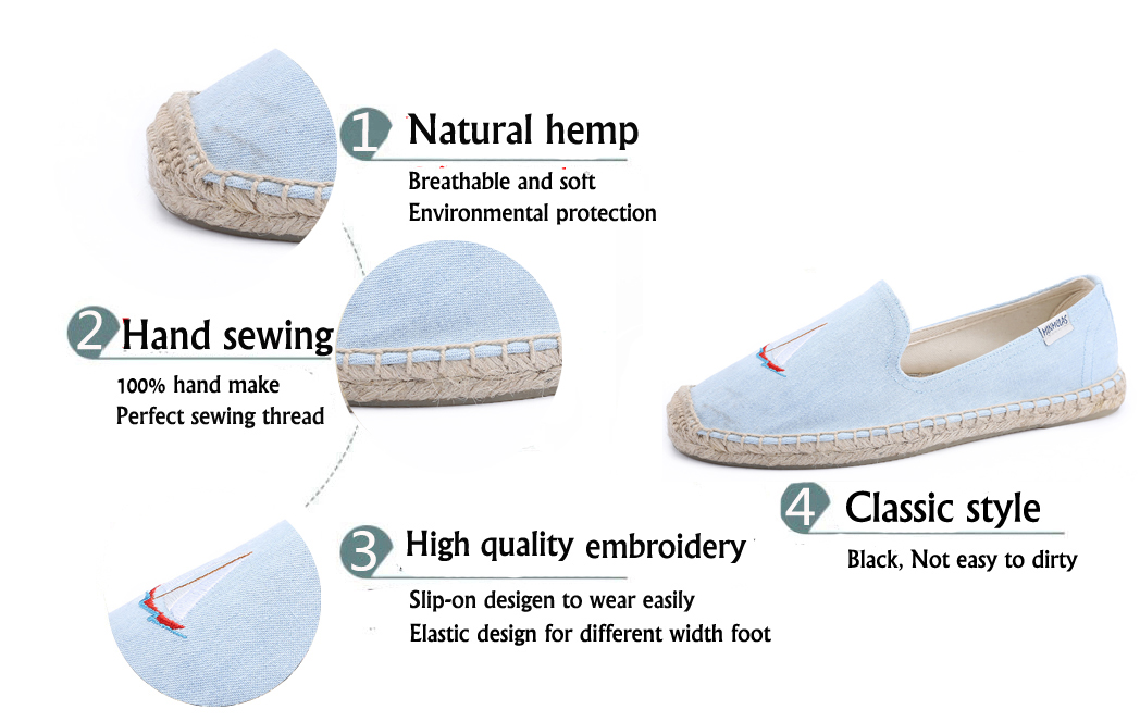Minmclas Coconut Tree Alpargatas Sailing Comfortable Slip on Womens Casual Espadrilles Breathable Flax Hemp Canvas Girl Shoes in Women 39 s Flats from Shoes