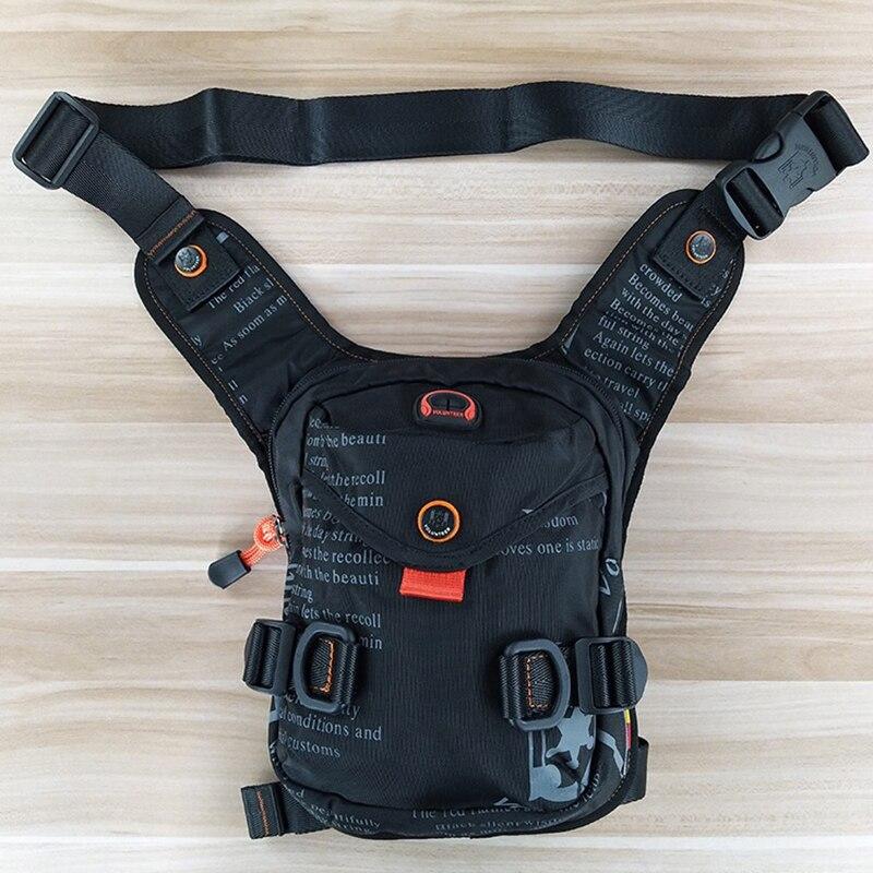 Military Drop Leg Bag  Hip Bum Fanny Pack Fashion Travel Functional Crossbody Shoulder Bags Oxford Men Belt Waist Chest Bag New