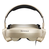 Royole 3D VR Glasses All In One With HIFI Headphones 3D Virtual Reality Glasses Touch Control HDMI Mobile Cinema For PC Moives
