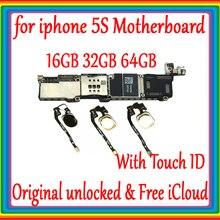 Для iphone 5S материнская плата разблокированная материнская плата с сенсорным ID/NO Touch ID, для iphone 5S логическая плата хорошо протестирована