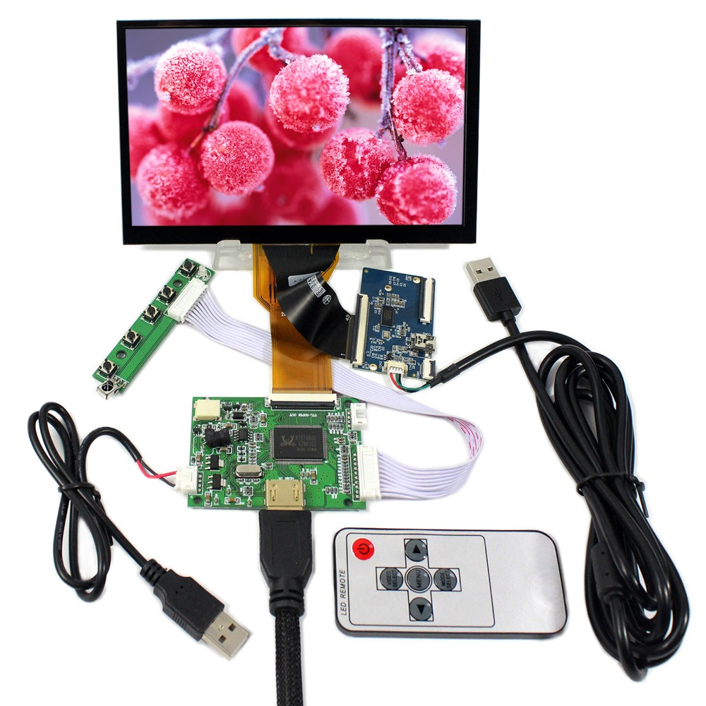 HDMI LCD Controller Board With 7inch AT070TN93 800x480 LCD With Capacitive Touch Screen 5inch lcd screen with capacitive touch panel 800x480 40pin lcd display