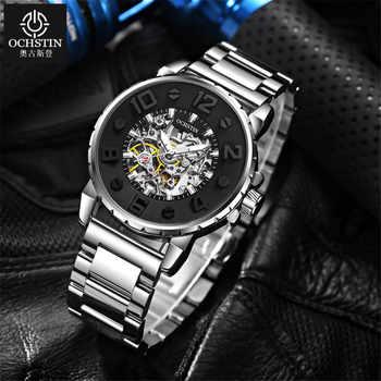 2019 NEW Men Watches Automatic Mechanical Watch Male Clock Full Steel Fashion Skeleton Clock Top Brand Waterproof Relogio