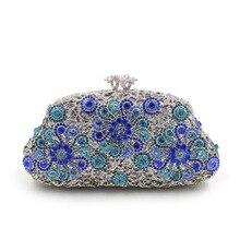 Neue Frauen Handtasche Flap Luxus Diamant Abendtaschen Damen Einzelner Schulterbeutel Hohlbohrer Hochzeit Partei Geldbörsen Handtaschen Sacs